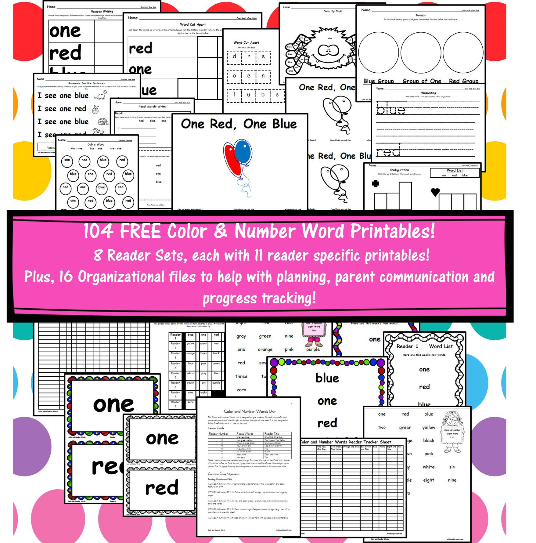 Color & Number Sight Word Unit - Milton & Prescott